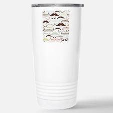 Mustache Pattern Travel Mug