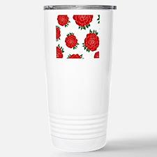 Red Roses Stainless Steel Travel Mug