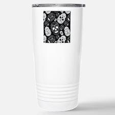 White Sugar Skulls Travel Mug