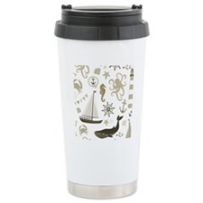 Beige Ocean Travel Mug