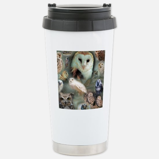 Happy Owls Stainless Steel Travel Mug