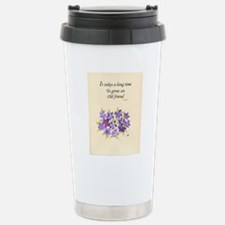 Poetry of an Old Friend Stainless Steel Travel Mug