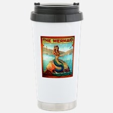 Vintage Mermaid Carniva Stainless Steel Travel Mug