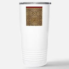 Cheetah Animal Print co Stainless Steel Travel Mug