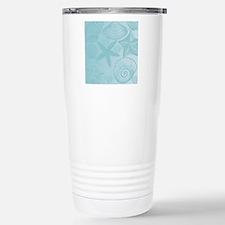 Aqua shells Stainless Steel Travel Mug
