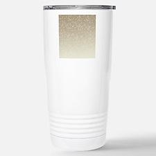 Cream Sparkles Travel Mug