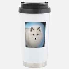 Arctic Fox with Blue Ba Travel Mug