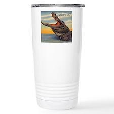 Vintage Alligator Postc Travel Mug