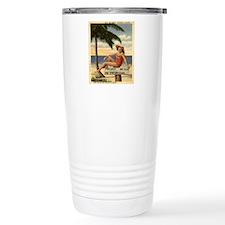 Vintage Private Beach P Travel Coffee Mug