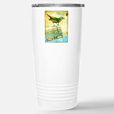 Vintage Tropical Bird M Stainless Steel Travel Mug