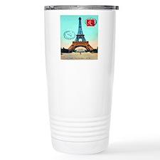 Vintage French Eiffel T Travel Mug