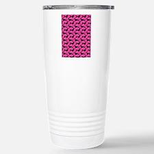 Pink Polka Doxies Travel Mug