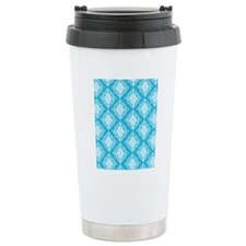 Aqua Damask Thermos Mug