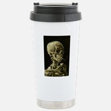 Skull with Cigarette Travel Mug