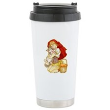 Red and Little Wolf Travel Mug