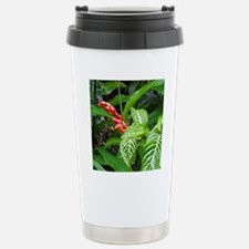 Tropical Flower Stainless Steel Travel Mug