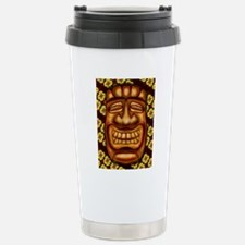 Happy Tiki Print Stainless Steel Travel Mug