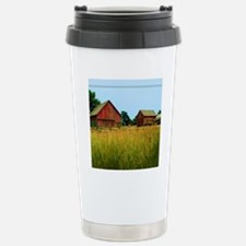 Farm Field with Red Bar Travel Mug