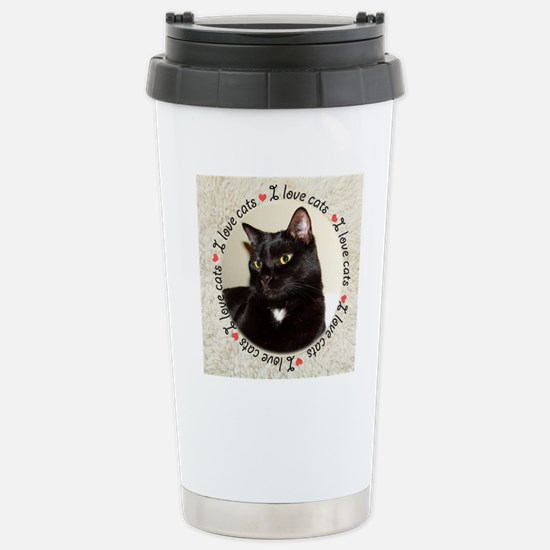 I Love Cats Stainless Steel Travel Mug