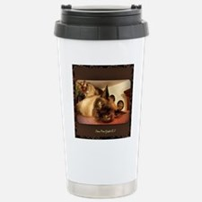 Burmese Cat portrait Stainless Steel Travel Mug