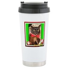 Sable Burmese Xmas Travel Mug
