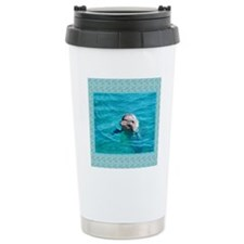 Dolphin Blue Water Travel Mug