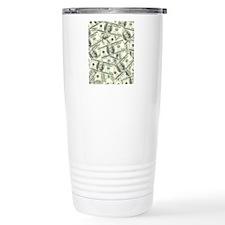 100 Dollar Bill Money P Travel Coffee Mug