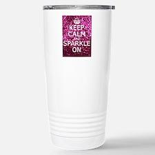 Keep Calm and Sparkle O Travel Mug
