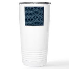 Blue Damask Travel Mug