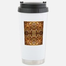 Gold Mosaic Tiles Travel Mug