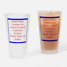 canasta Drinking Glass