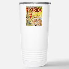 Vintage Florida Vacatio Stainless Steel Travel Mug