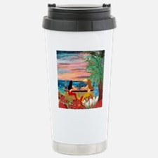 Mermaid Tiki Sunset Win Stainless Steel Travel Mug