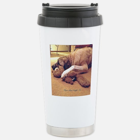 Dog with toy 1 Stainless Steel Travel Mug