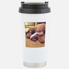 Dog with toy 1 Travel Mug