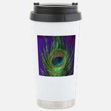 Purple Foil Peacock Travel Mug