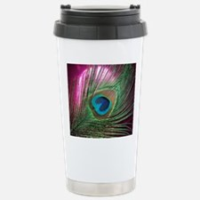 Magenta Peacock Travel Mug