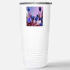 Large Blue Tulips Stainless Steel Travel Mug