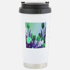 Large Green Tuilips Travel Mug