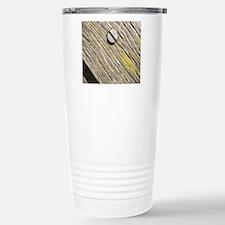 Nailed Down Driftwood Stainless Steel Travel Mug