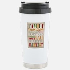 Happy Thanksgiving Subw Stainless Steel Travel Mug