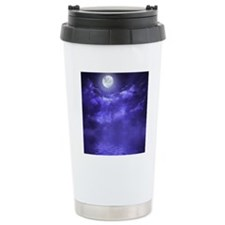 Clouds-Purple-Midnight- Travel Mug