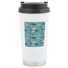 Cute Summer Beach Fish Travel Mug