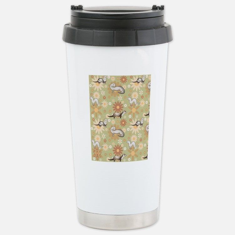 Ferrets and Flowers Stainless Steel Travel Mug