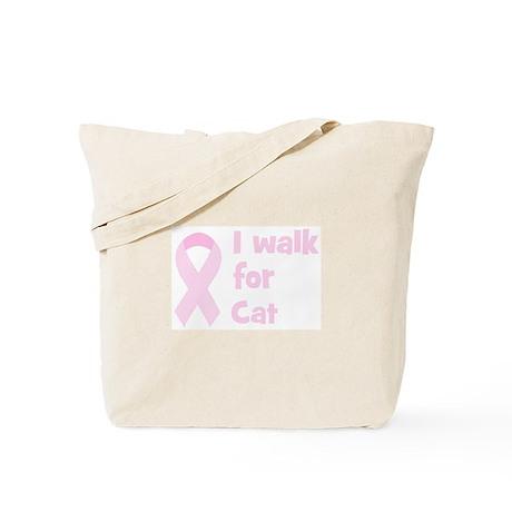 Walk for Cat Tote Bag