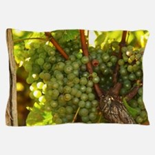 Bunches of Semillon grapes that are fa Pillow Case