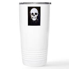 skull illusion coloured Travel Mug