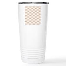 Brown Circles  Pink Dot Travel Mug