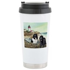 two newfs and boat Travel Mug