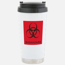 Red and Black Biohazard Travel Mug